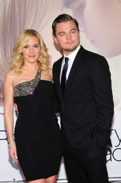 """Onze ans après, Leonardo partage à nouveau l'affiche avec sa meilleure amie Kate Winslet dans """"Les Noces rebelles"""" réalisé par Sam Mendes (alors marié à l'actrice)"""