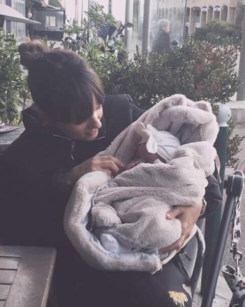 Maggy, la fille d'Alizée et Grégory Cornet, a désormais deux mois.
