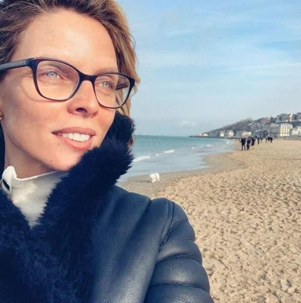 Sylvie Tellier à Trouville-sur-Mer.
