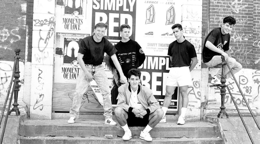 Mark à l'époque des New Kids on the Block, boysband couronné de succès (1989)