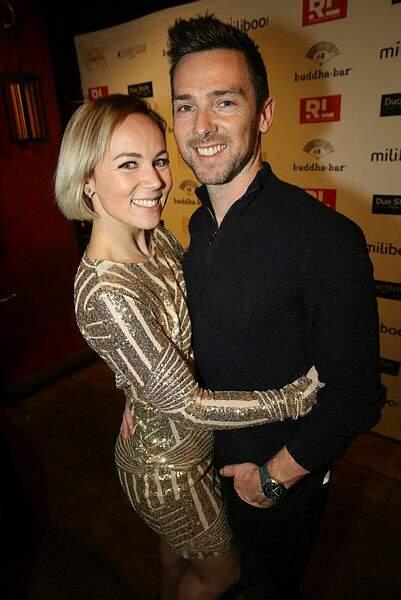 Emmanuelle Berne et son compagnon Chris Buncombe.