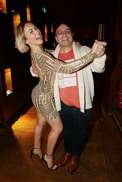 Yoann Riou et sa danseuse Emmanuelle Berne se sont remémoré le bon vieux temps.