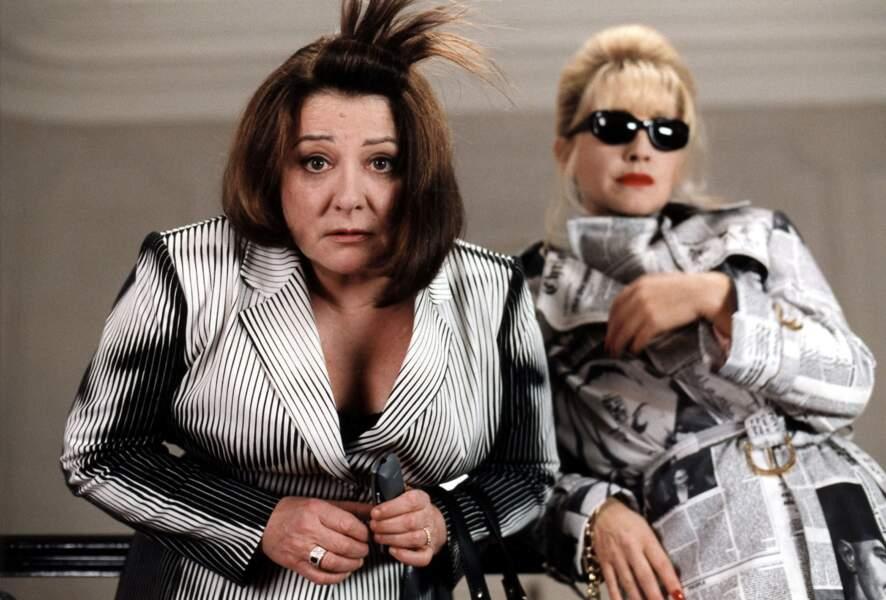 Avec Josiane Balasko dans Absolument fabuleux (2001)