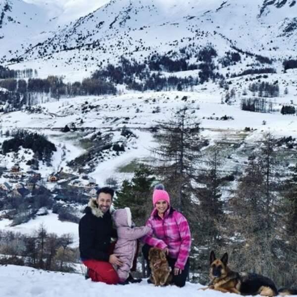 Laetitia Milot, Badri et Lyana ont pris un bon bol d'air frais.