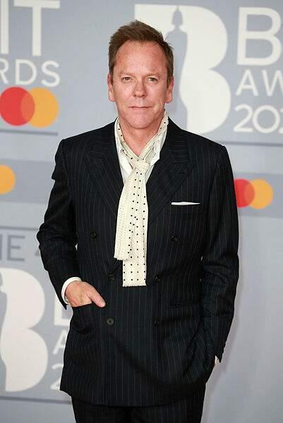 Le chic à l'anglaise pour l'acteur Kiefer Sutherland.