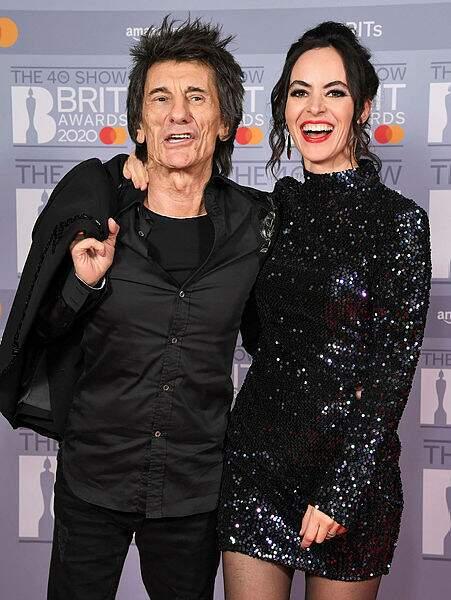 Ronnie Wood et son épouse Sally Humphreys.