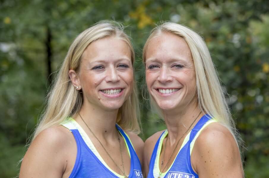Pauline et Aurélie, les soeurs lilloises mettent leur bonheur et leur sourire au service de la course et ça marche !