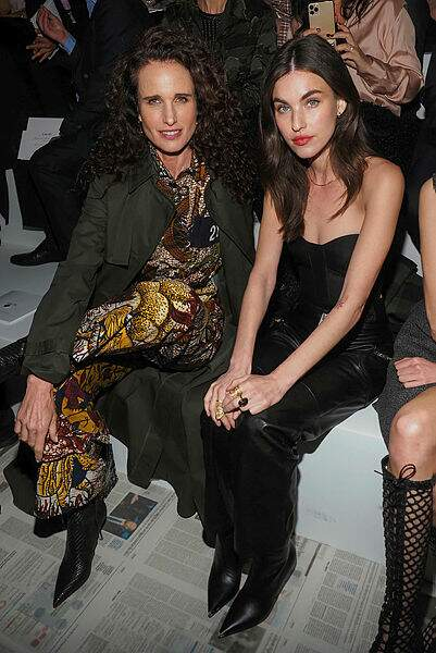 Andie MacDowell et sa fille Rainey.