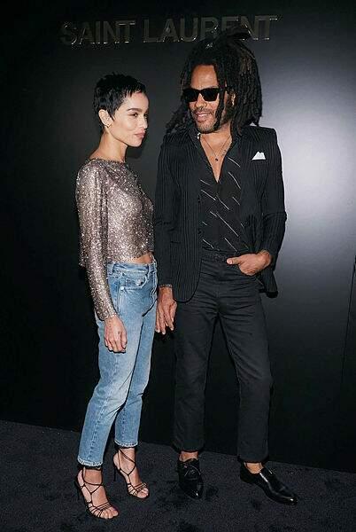 Un amour de la mode, de père en fille : Zoe et Lenny Kravitz.