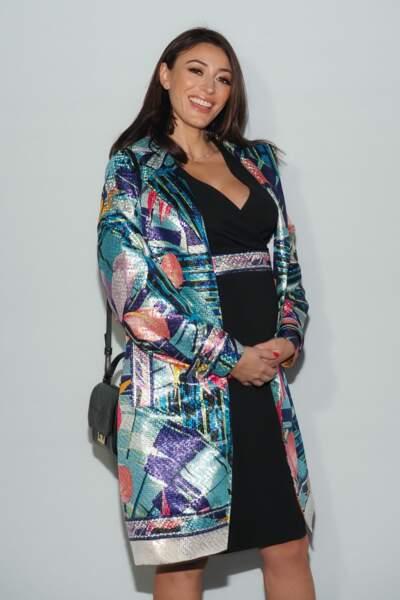 Rachel Legrain-Trapani est resplendissante pendant sa grossesse
