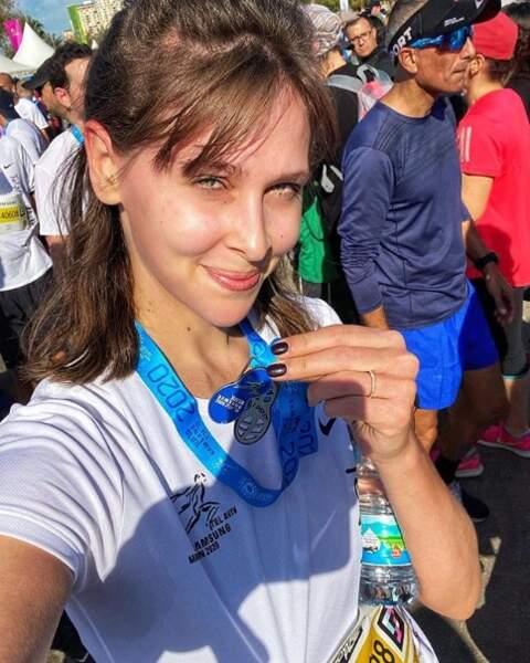 Ou qu'Ophélie Meunier, après avoir couru le semi-marathon de Tel Aviv.