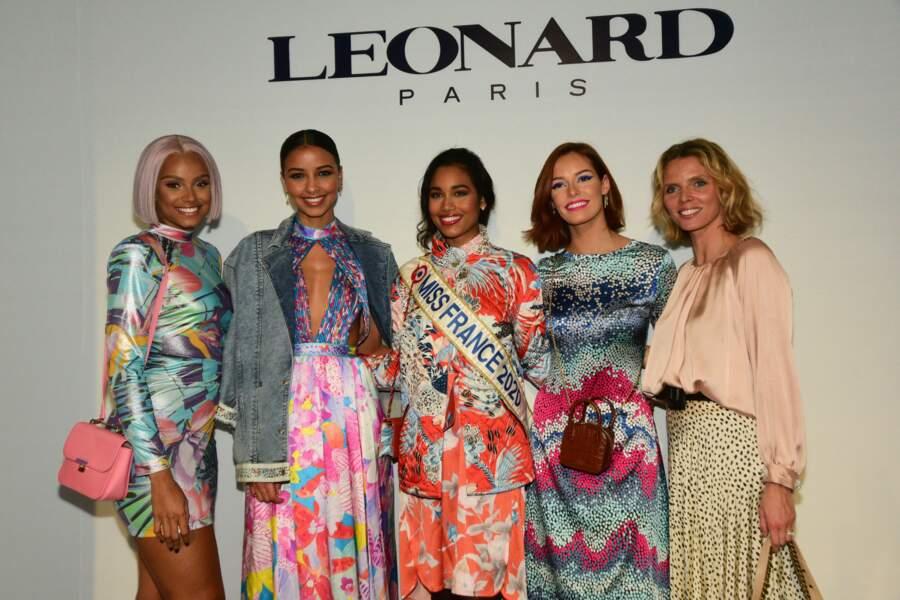 Plusieurs Miss se sont rendues au défilé Leonard pendant la Fashion Week le 27 février 2020