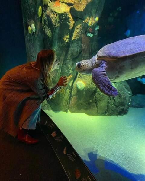 Kaley Cuoco a rencontré l'amour de sa vie à l'aquarium de New York.