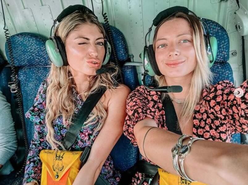 Leslie Dasc et Elsa Dasc ont fait un vol en hélicoptère au dessus de Dubaï