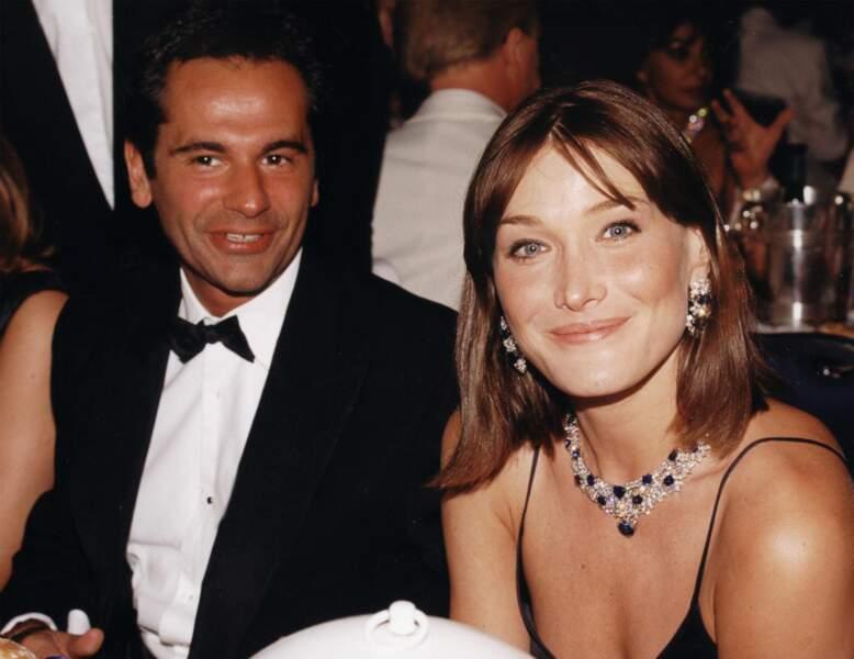 1998 au bal de la Croix-Rouge en compagnie de Jean-Yves Le Fur