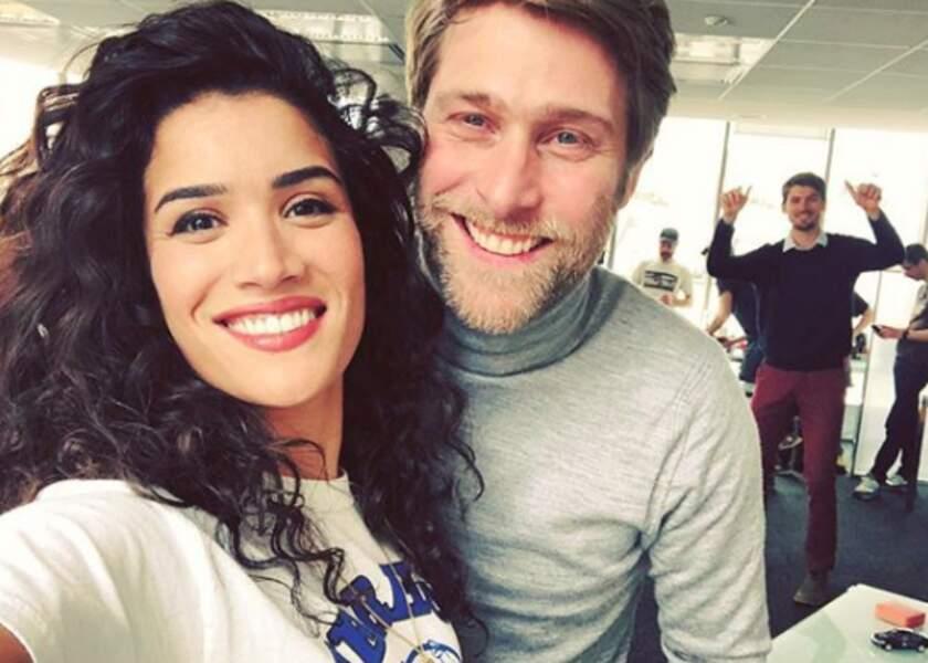 Une photo avec son partenaire de la série Plan Coeur, Tom Dingler