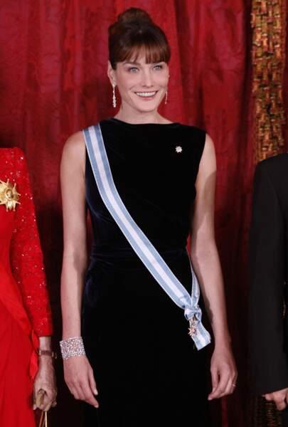 2009 Port altier au dîner donné par la famille royale espagnole à Madrid