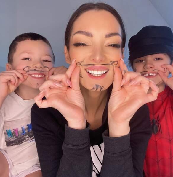 Émilie Nef Naf est aussi très proche de ses enfants