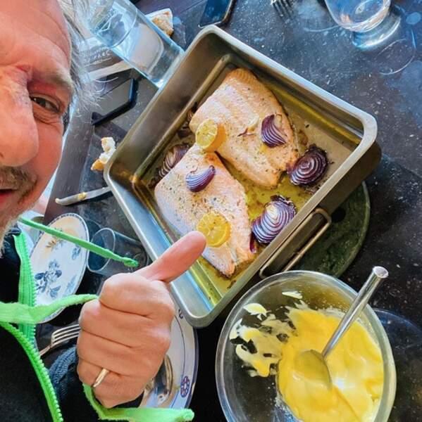 ... et de Jean-Luc Reichmann, qui peut nourrir tout le quartier en mayonnaise.