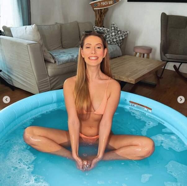 Et cette veinarde d'Emma Cakecup a désormais une piscine à domicile.