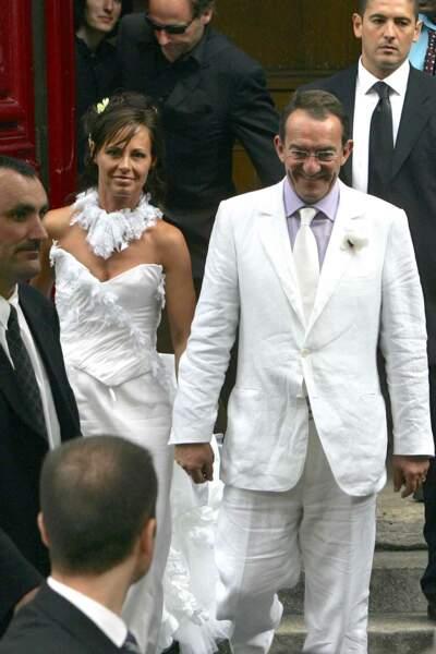Jean-Pierre Pernaut s'est marié avec l'ex Miss France 1987 Nathalie Marquay à Paris en juin 2007
