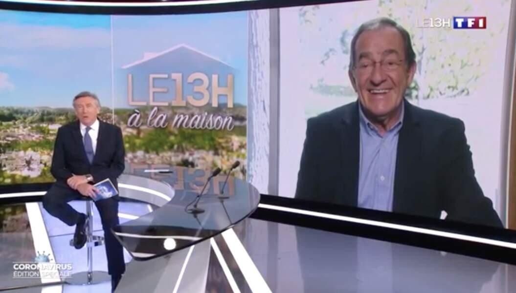 En avril 2020, comme beaucoup de monde, Jean-Pierre se confine et laisse les manettes du 13 heures à Jacques Legros.