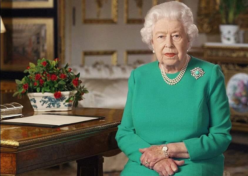 Le  5 avril 2020,  la Reine Elisabeth II encourage les Britanniques à faire face au Coronavirus dans un discours historique