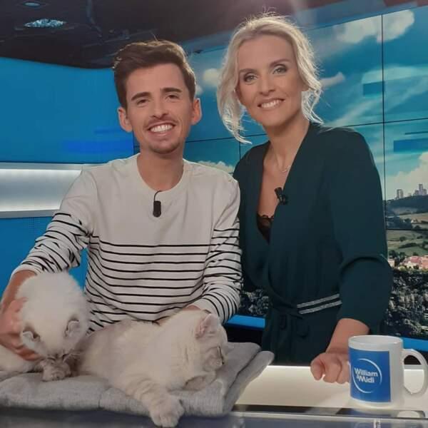 Avec Yoann Latouche, mais surtout deux petits chats trop mignons !