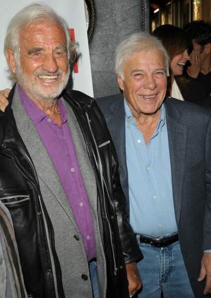 Guy et son inséparable ami Jean-Paul Belmondo au Théâtre de la Gaîté Montparnasse (2015)