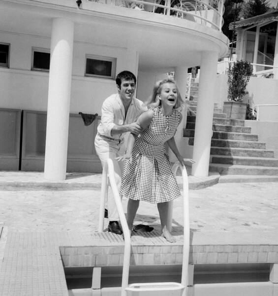 Guy Bedos et Sophie Daumier au Festival de Cannes (1964)