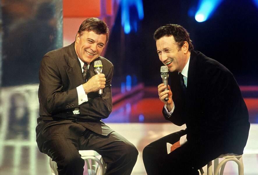"Guy Bedos et Michel Drucker dans ""Stars 90"" sur TF1 (1994)"