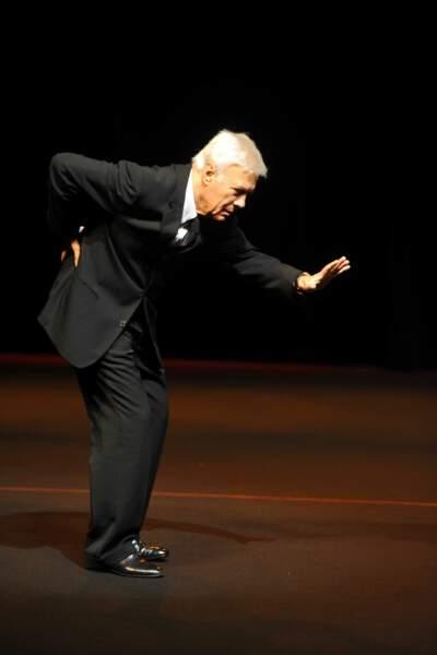 """2011, Guy Bedos dans son spectacle"""" Rideau"""" au Théâtre du Rond-Point"""