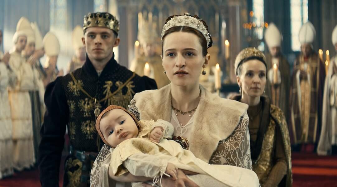 L'actrice en Duchesse de Bourgogne dans le téléfilm Marie de Bourgogne