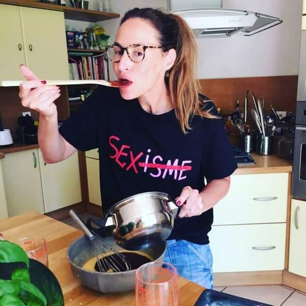 Mais elle adore faire la cuisine aussi !