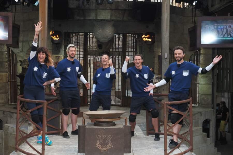 Deuxième équipe à affronter le Fort : Daphné Burki, Monsieur Poulpe, Pierre-François Martin-Laval, Raphaël de Casabianca et Tom Villa