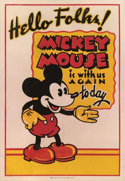 Regardez attentivement : à partir de 1939, les yeux de Mickey ont un petit éclat blanc pour leur donner plus de vie