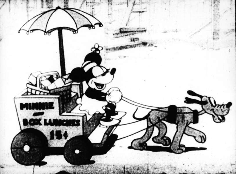 Et oui, c'est bien Pluto qui tracte Minnie en 1931 !