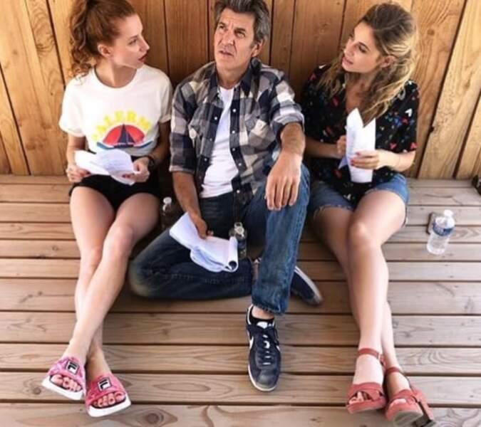 Les trois copains de la paillote répètent souvent leurs scènes ensemble