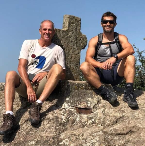 Guy Forget et Bixente Lizarazu se sont retrouvés au Pays Basque pour faire de la rando.