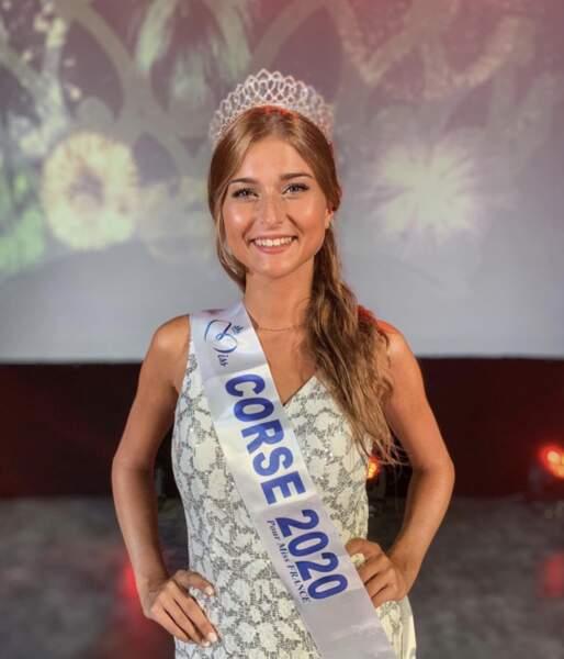 C'est Noémie Leca qui a été élue Miss Corse 2020