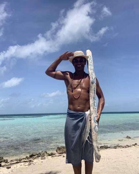 Yannick Noah aussi aime les plages paradisiaques...