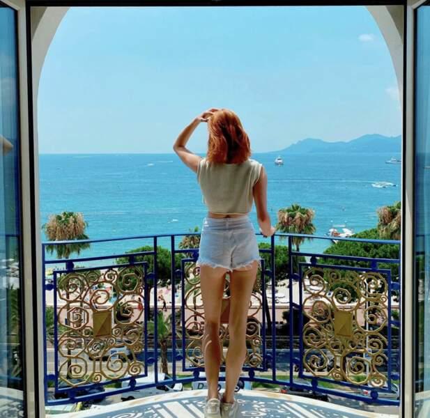 Maëva Coucke a profité du beau temps de Cannes