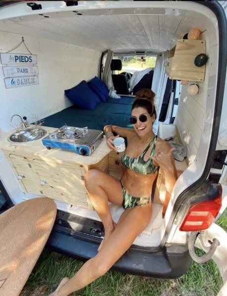 Et elle est aussi partie à l'aventure en Van