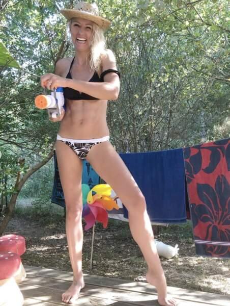 Elodie Gossuin s'amuse elle aussi en vacances avec ses enfants