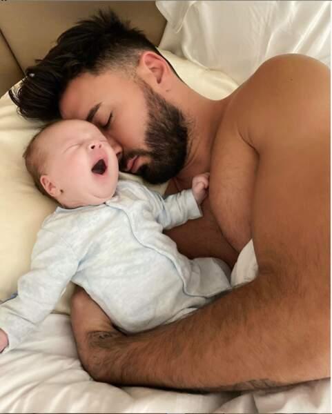 Avec papa, on s'endort tout de suite.