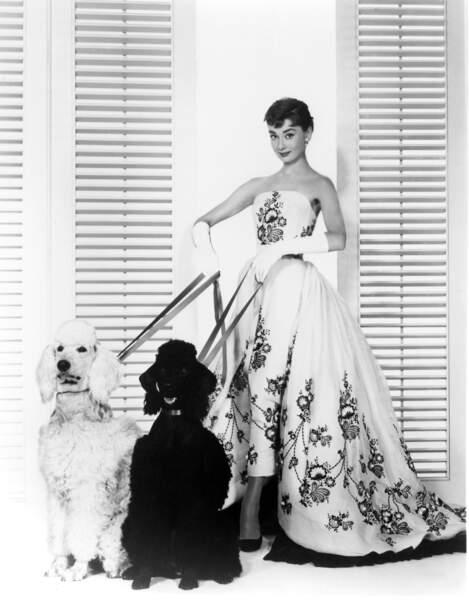 ... l'élégante Audrey Hepburn