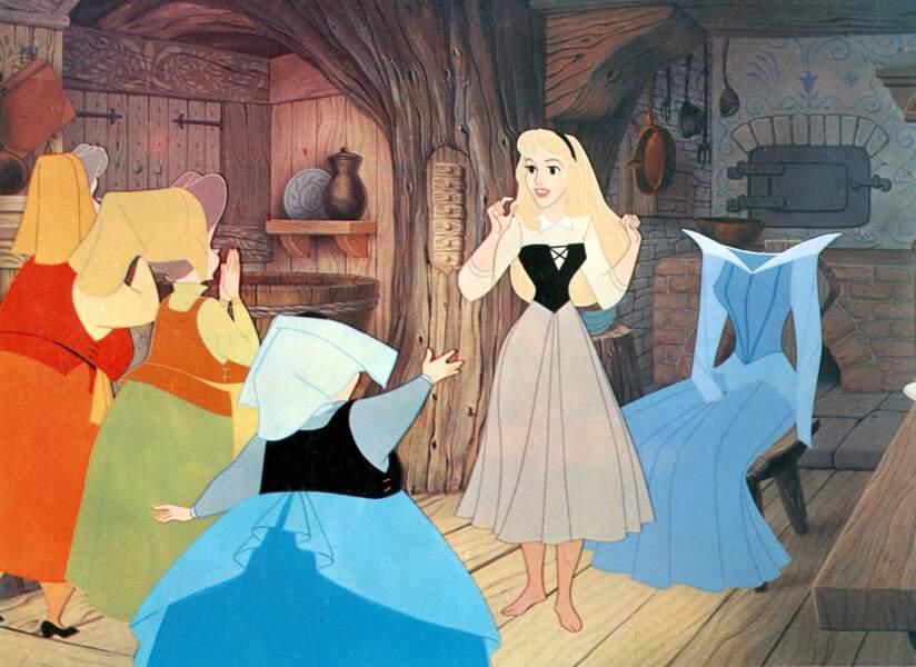 Aurore, la princesse de La Belle au Bois dormant, tient ses traits fins et sa grâce de...