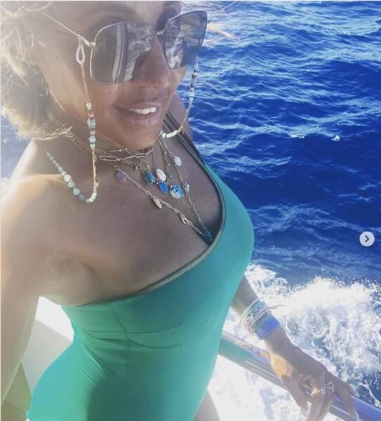 Moment selfie pour Cathy Guetta