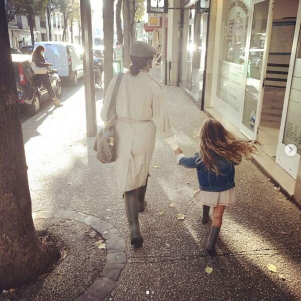 Amel Bent et sa fille