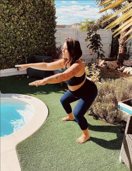 Kelly Helard, elle aussi enceinte, a une routine très sportive